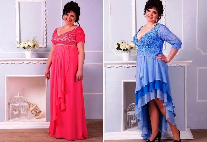 61e58ced6e85d6 ... тому вони часто стають предметом вибору пишечек. Завдяки косим лініях  розрізу короткі і довгі вечірні сукні для повних жінок, заорюються на  будь-яку зі ...