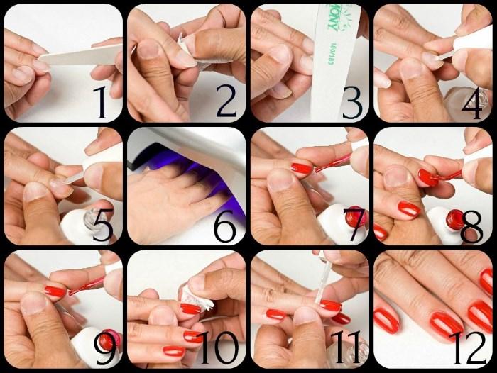 Как сделать на ногтях шеллаком