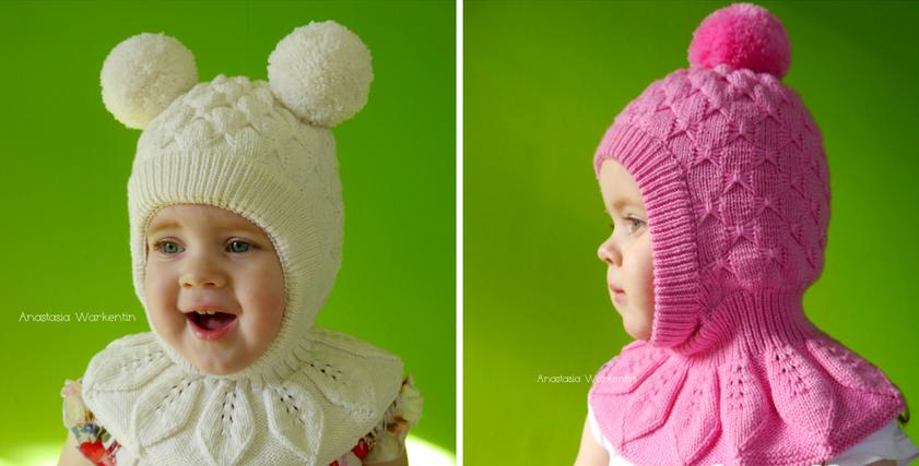 Вязание для девочек шапка шлем 870