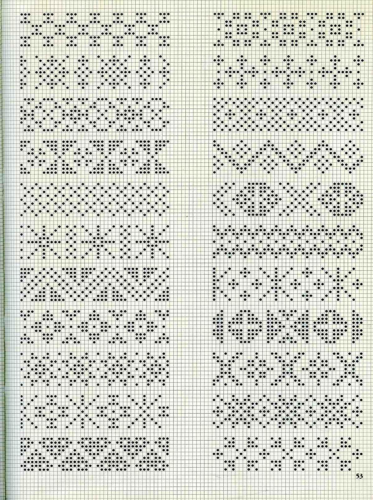 Орнаменты для вязания свитеров 51