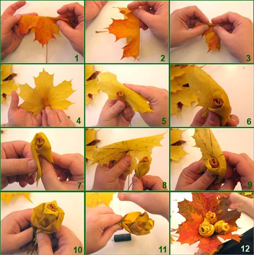 Поделки в детский сад на тему осень фото пошагово