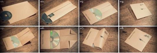 Как сделать конвертики из бумаги для дисков 542