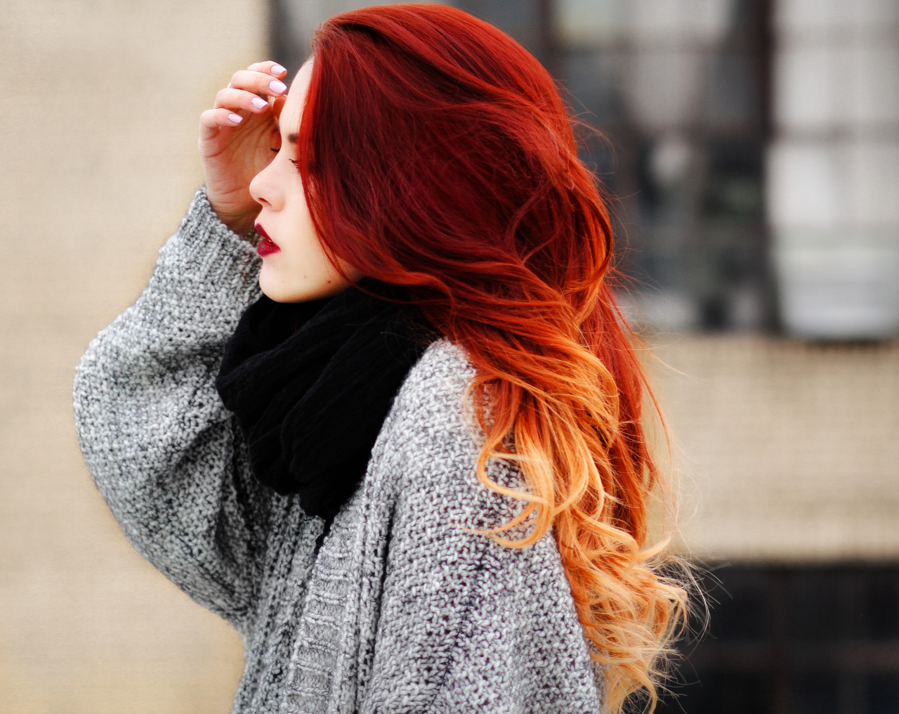 Fashion hair red dyed Trend to Try: Wild